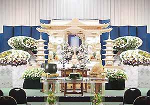 朝霞市斎場祭壇施工例3