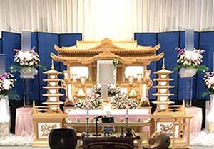 朝霞市斎場祭壇施工例1