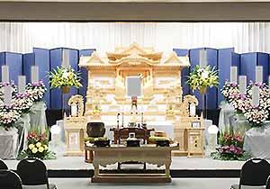 朝霞市斎場祭壇施工例2
